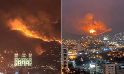 Incendio, Forestal, Tegucigalpa, Honduras,