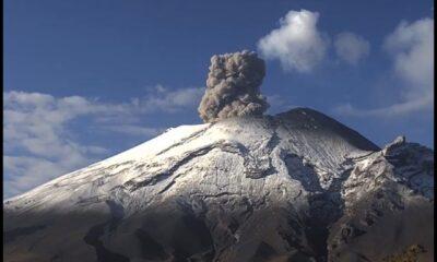 Cenapred exhorta a no acercarse al volcán Popocatépetl
