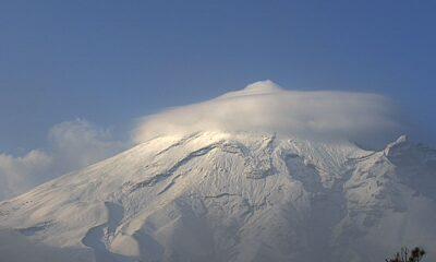Popocatepetl amanece este viernes cubierto con nieve