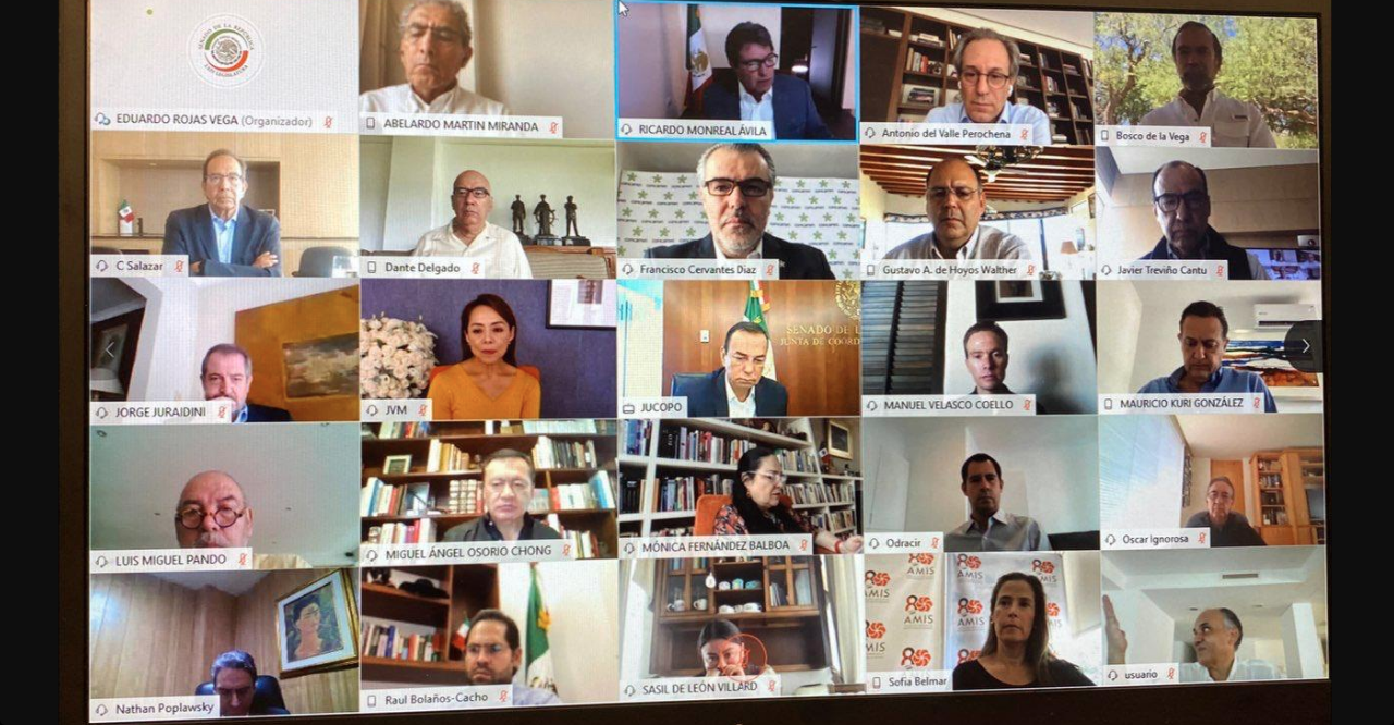 Ricardo, Monreal, Coronavirus, Covid-19, Reunión, Virtual, CCE, Empresarios, Unidad, Senadores,