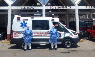 Ocho bomberos de Tultepec dan positivo a Covid-19