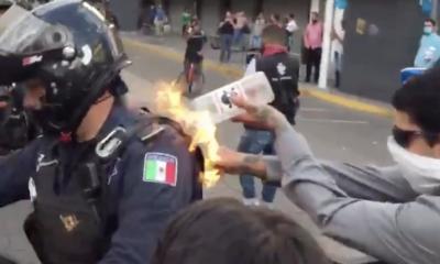 Estudiante, Fuego, Policía, Iteso, Identifican, Guadalajara, Jalisco, Protestas, Giovanni, López, Iteso, Deslinda,
