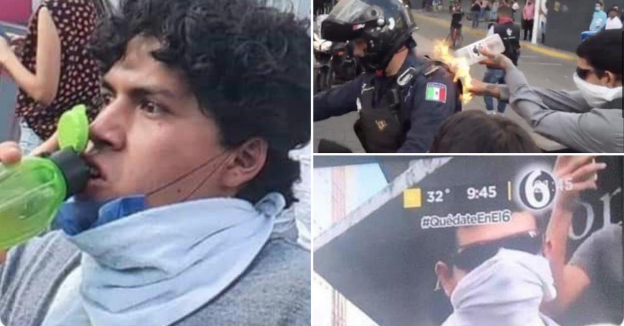 Estudiante, Fuego, Policía, Iteso, Identifican, Guadalajara, Jalisco, Protestas, Giovanni, López,