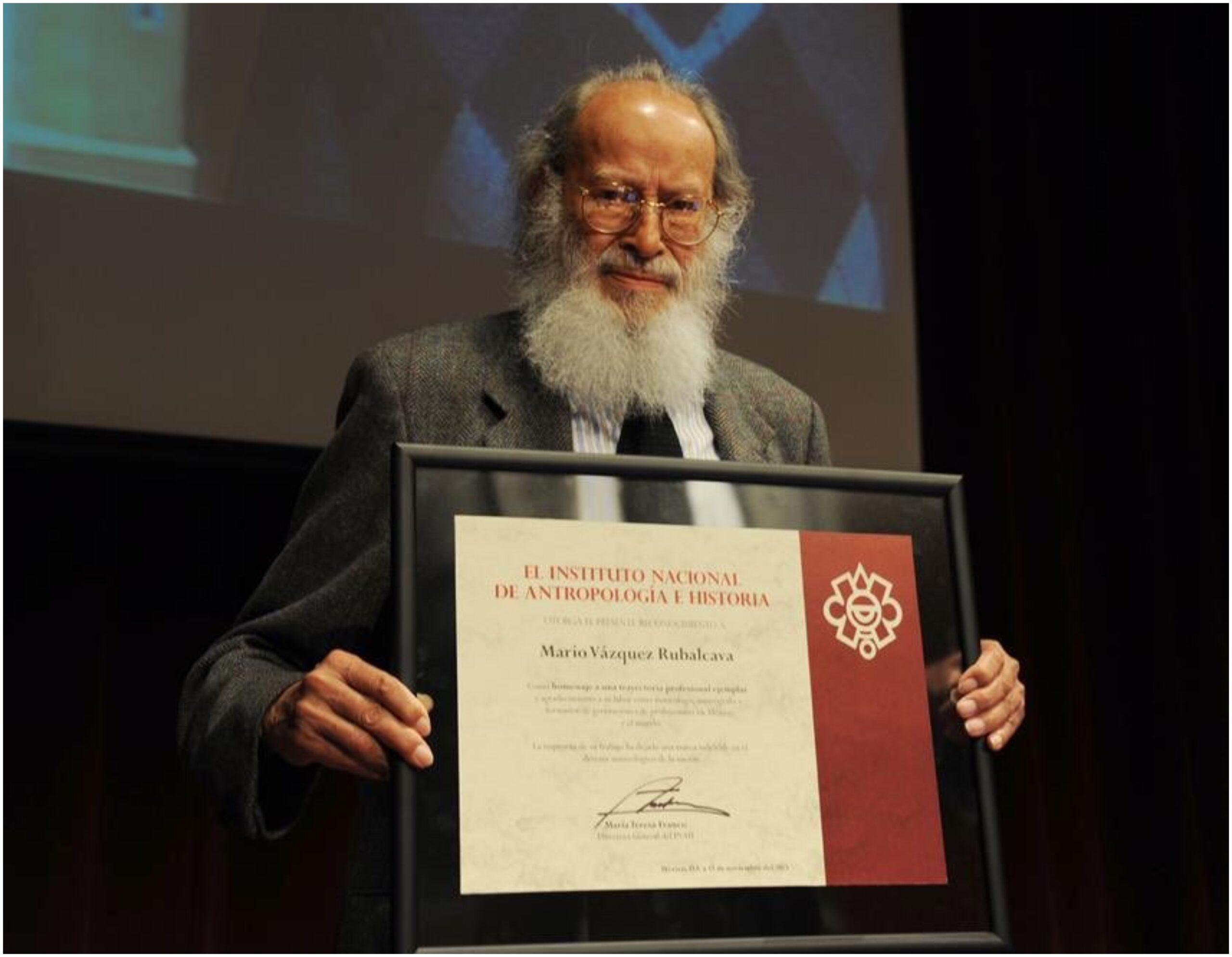 Fallece Mario Vázquez Ruvalcaba, fundador del Museo Nacional de Antropología