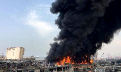 Beirut registra un incendio en un depósito de neumáticos