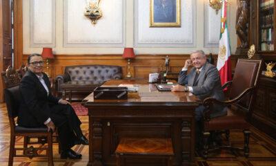 AMLO se reúne con Rosa Icela Rodríguez, titular de la Secretaría de Seguridad