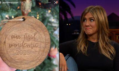 Jennifer Aniston es criticada en redes por exhibir adorno alusivo a la pandemia