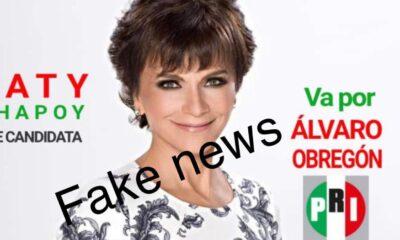 Pati Chapoy dice que es 'fake' su candidatura a alcaldesa de Álvaro Obregón