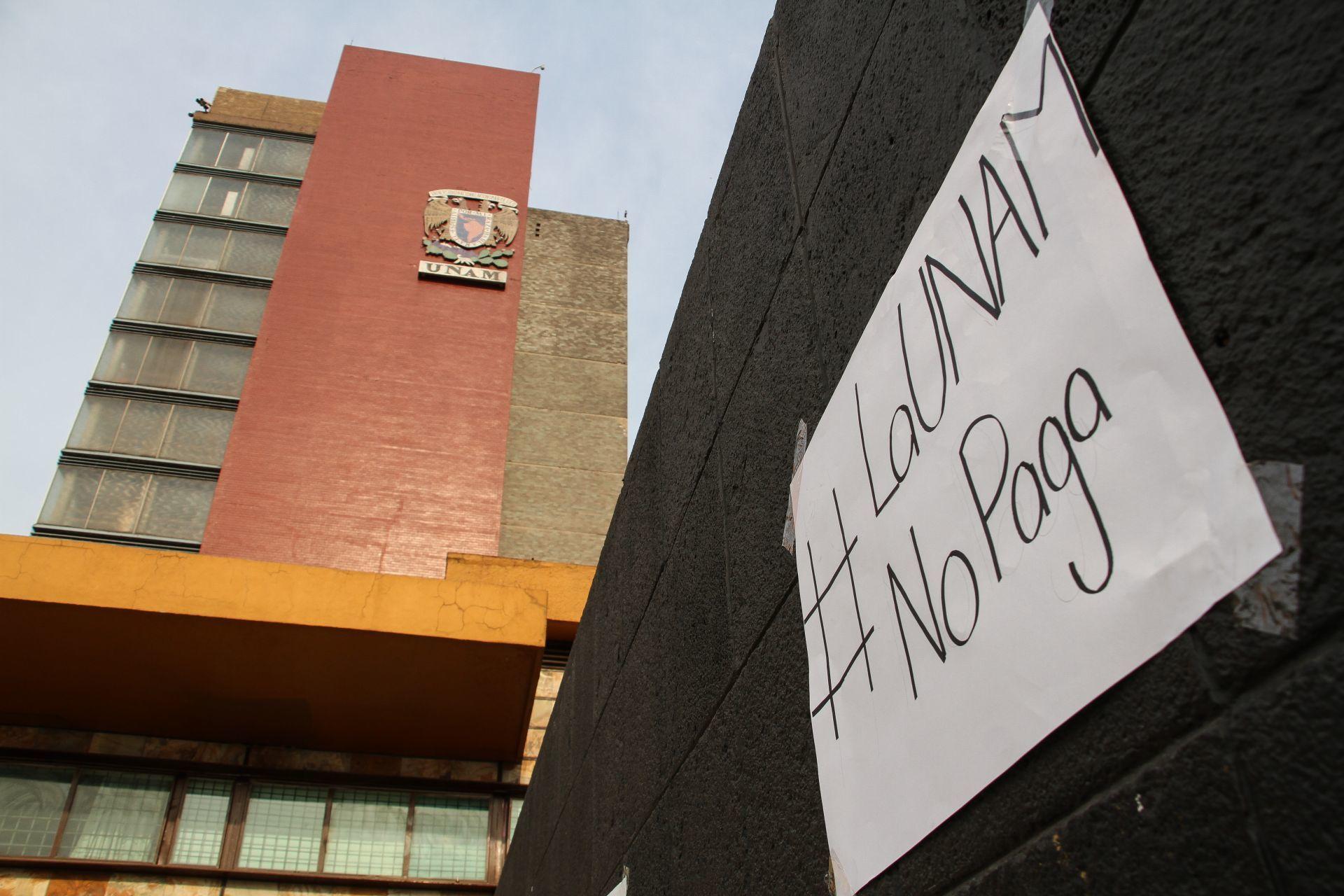 Ya se paga a profesores y ayudantes salarios atrasados UNAM