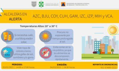 Activan alerta amarilla ante pronóstico de altas temperaturas en Cdmx