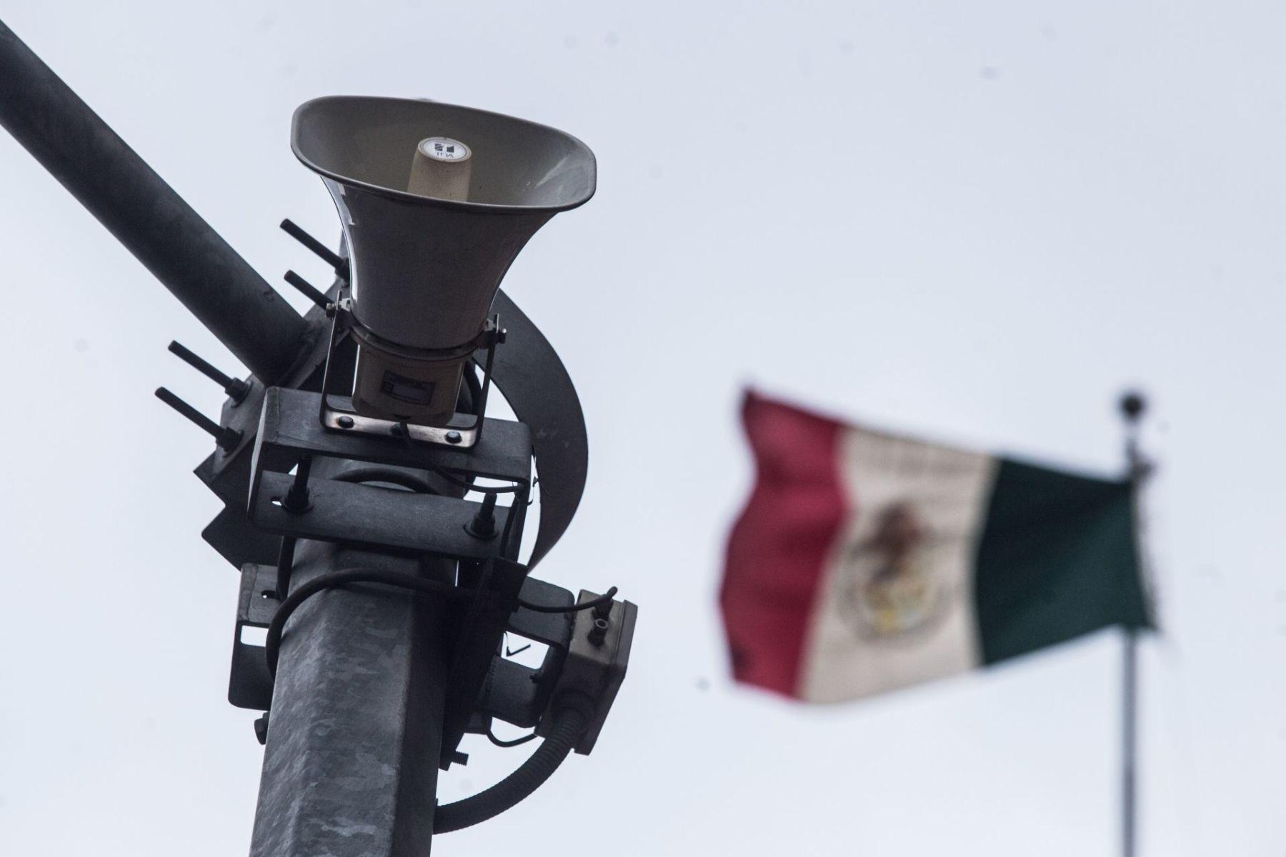 Realiza Cdmx pruebas de audio en altavoces de la alerta sísmica