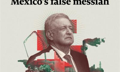 """Dedica 'The Economist' portada a AMLO; """"El falso mesías de México"""", titula"""