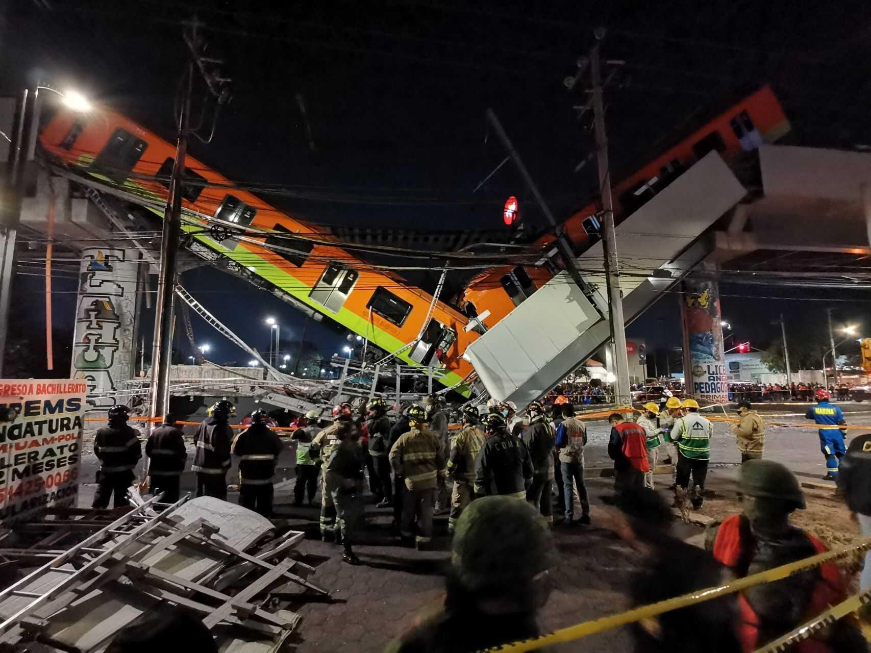 Abre Fiscalía de la Cdmx carpeta de investigación por colapso en el Metro