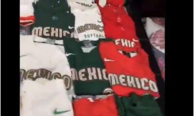 Muestra Steffy Aradillas todos sus uniformes de softbol utilizados en Tokio