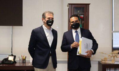 Córdova recibe a Aureoles; tratan narcoelección del pasado 6 de junio