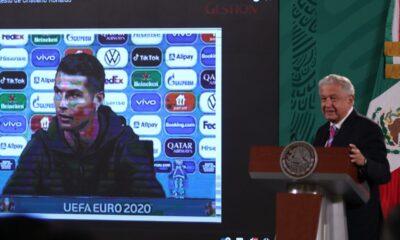 AMLO recuerda y elogia gesto de Ronaldo sobre bebidas azucaradas