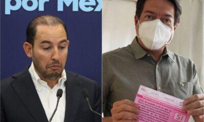Llama Mario Delgado a participar en consulta; Marko Cortés dice que es despilfarro