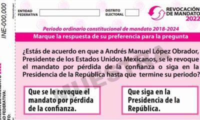 INE aprobó el diseño e impresión de la boleta para la Revocación de Mandato del presidente López Obradorl