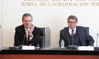 El canciller Marcelo Ebrard, y el presidente de la Jucopo del Senado, Ricardo Monreal, se refirieron a la aparición de Emilio Lozoya en un lujoso restaurante de la Ciudad de México