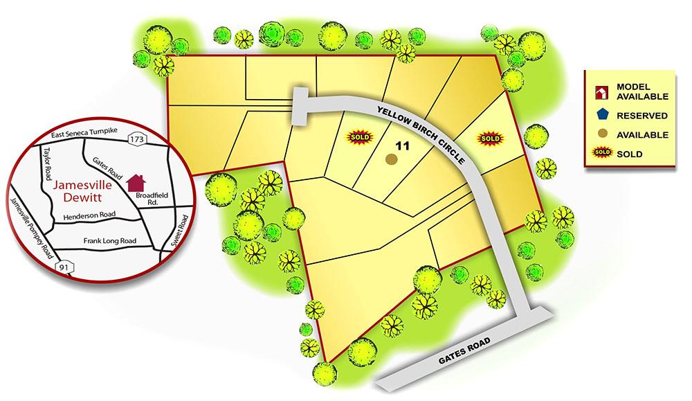 Map of Yellow Birch Estates