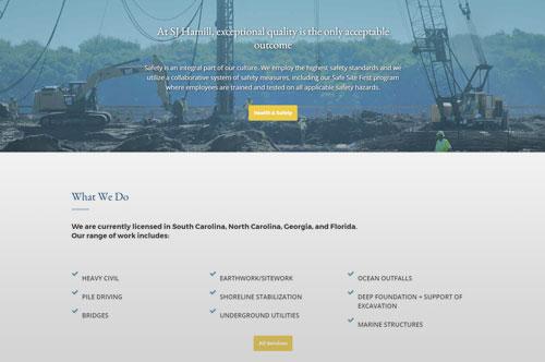SJ Hamill Website Design