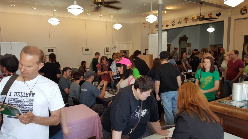 The exhibitor hall was packed all day long!