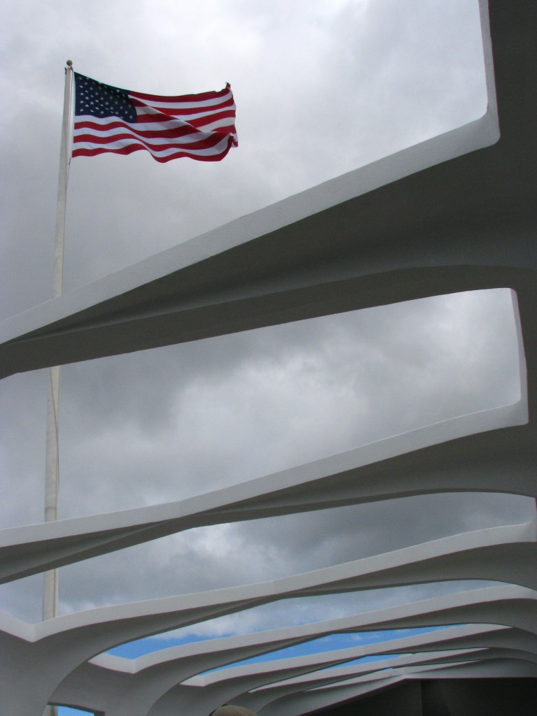 Flag over the USS Arizona