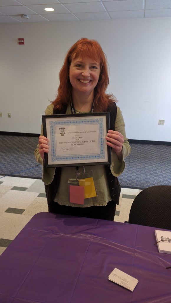 Allison Jornlin - Wisconsin Paranormal Reseaecher od the Year!