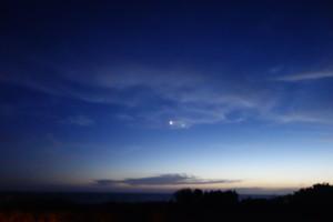 Venus and Jupiter close together at dusk!