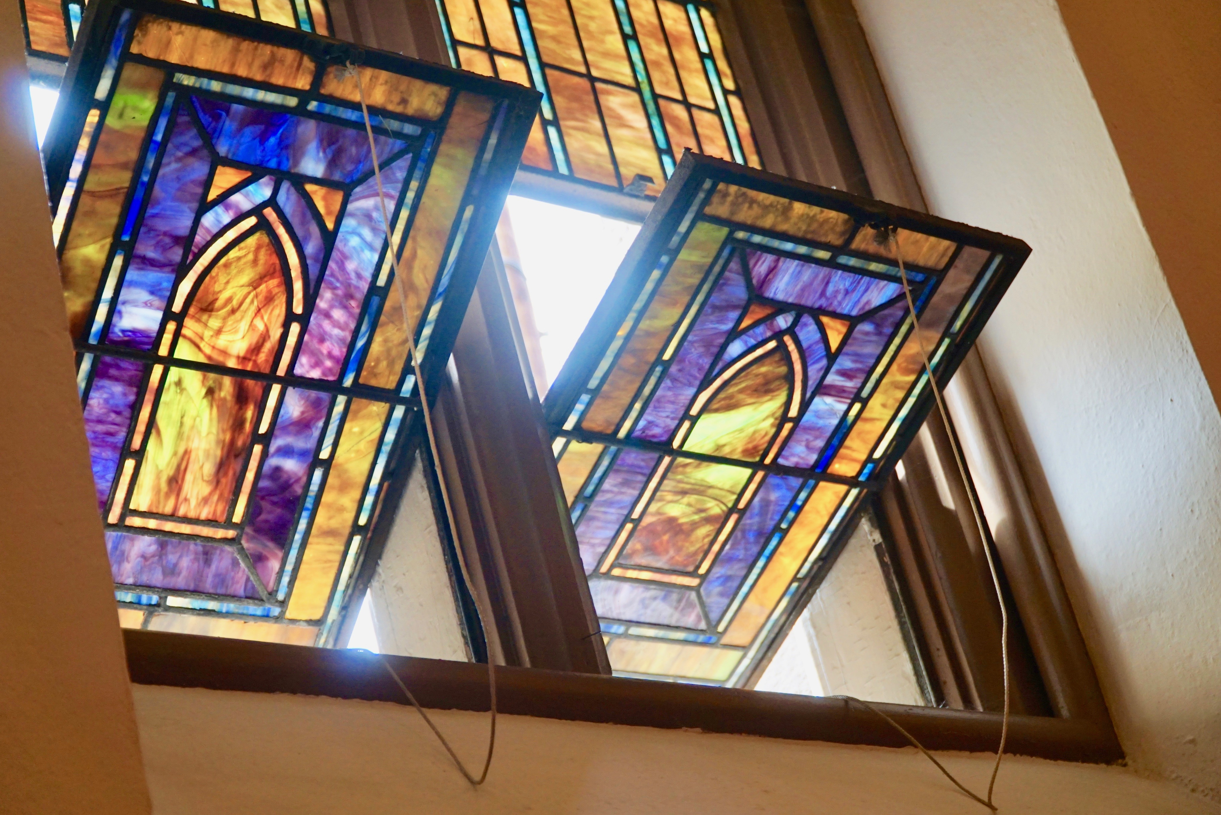 Small Tiffany windows at First Presbyterian Church in Easton, PA