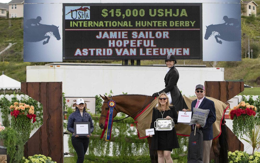 Jamie Sailor and Hopeful Capture USHJA International Hunter Derby Win