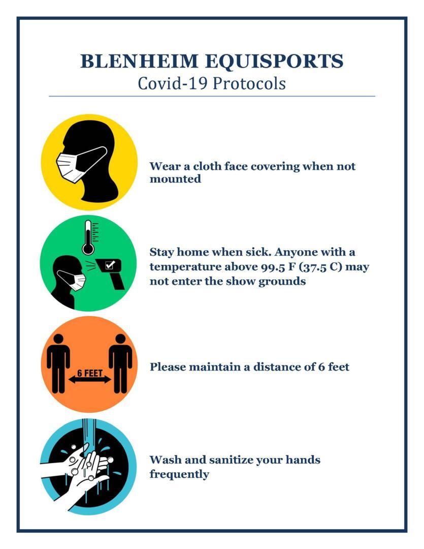 COVID protocol graphic