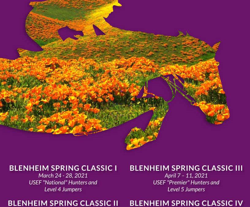 Robert's December Update & 2021 Blenheim Spring Prize List