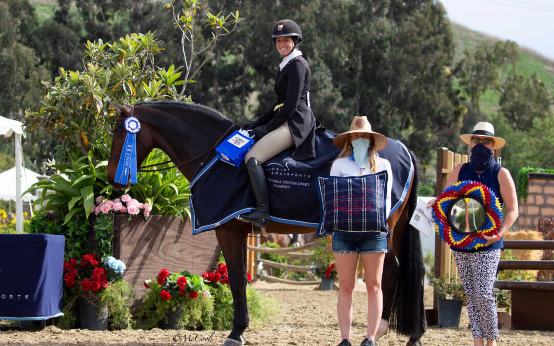 Tic Tac Toe Takes The Victory In The $5,000 USHJA National Hunter Derby During Blenheim Spring Classic II