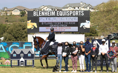 Olympian Will Simpson and Chacco P Win the First Leg of the $270,000 Interactive Mortgage 'Ticket to Ride' High Performance Jumper Series