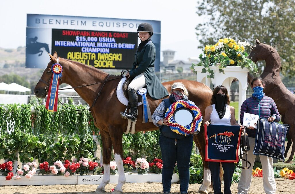 Augusta Iwasaki and Small Social Shine in $15,000 USHJA International Derby at Ranch & Coast