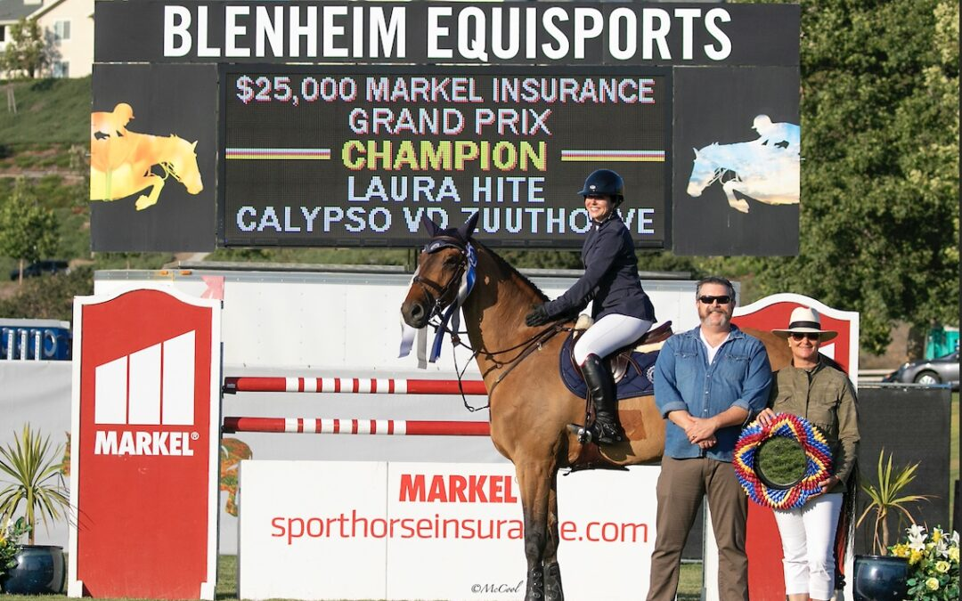 Laura Hite Hits the Gas to Win $25,000 Markel Insurance 1.45m Grand Prix at Blenheim June Classic II
