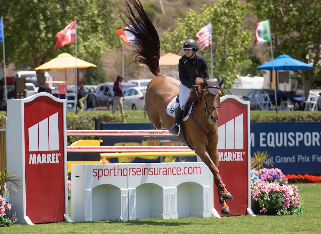 Rider over Markel Insurance Jump