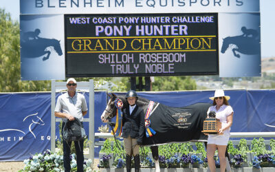 Truly Noble, Buzzworthy, Chianti de Luxe, and Bragging Rights Win Big in the Blenheim EquiSports West Coast Pony Hunter Challenge, presented by USHJA Zone 10