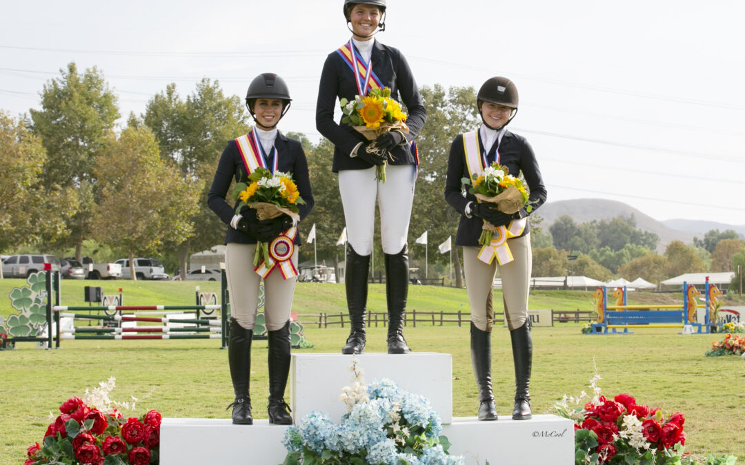 Madison Nadolenco, Paige Walkenbach and Stacey Bacheller are Best in CPHA Foundation Equitation Championships