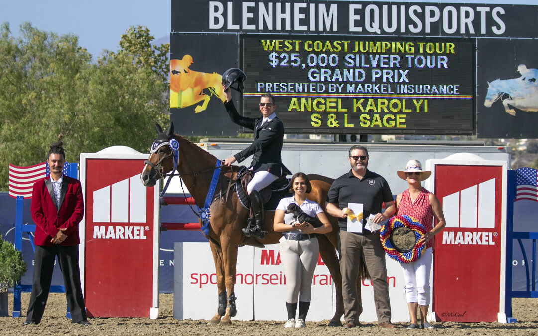 Angel Karolyi and S & L Sage Win the $25,000 1.45m Silver Tour Markel Insurance Grand Prix at Blenheim EquiSports