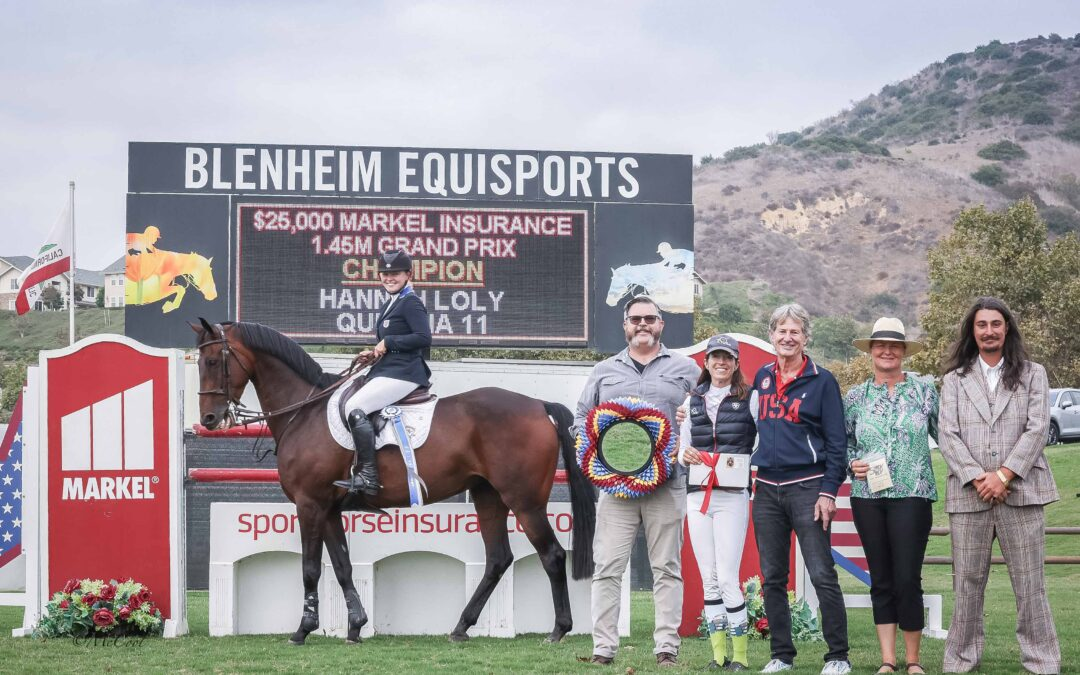 Hannah Loly Goes for Gold in the 12th $25,000 Markel Insurance Grand Prix