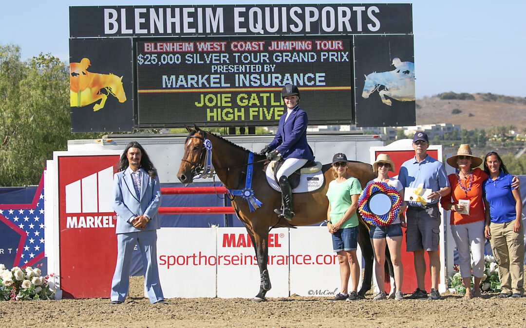 Joie Gatlin Gets the Gold in $25,000 1.45m Silver Tour Markel Insurance Grand Prix