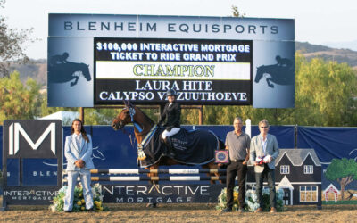 """Laura Hite and Calypso VD Zuuthoeve Claim Victory in $100,000 Interactive Mortgage """"Ticket to Ride"""" Grand Prix"""