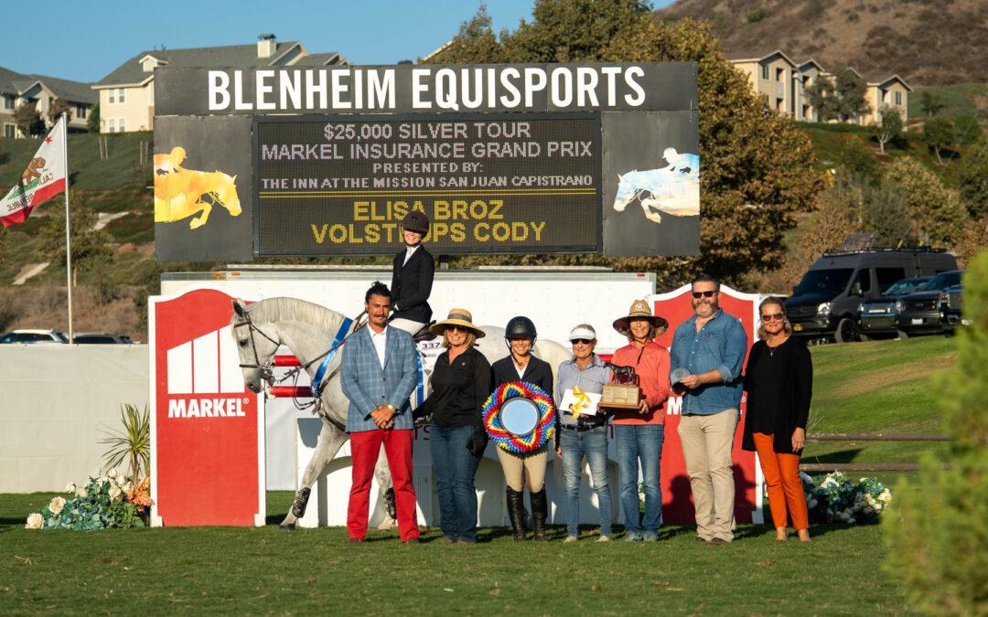 Elisa Broz Celebrates Birthday with $25,000 Silver Tour Markel Insurance Grand Prix Win