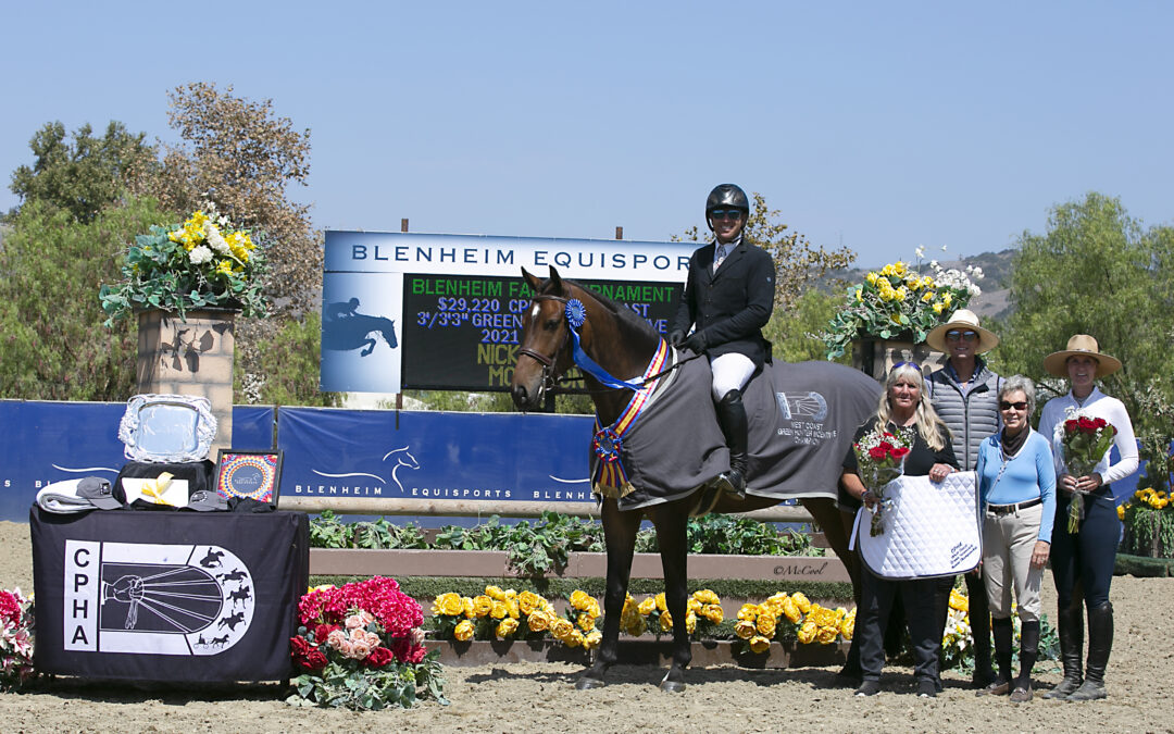 Nick Haness Rides Morrison and Starburst to Top Honors in the 2021 CPHA West Coast Green Hunter Incentive Championships