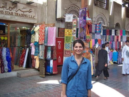 Shopping at a Bazaar in Dubai
