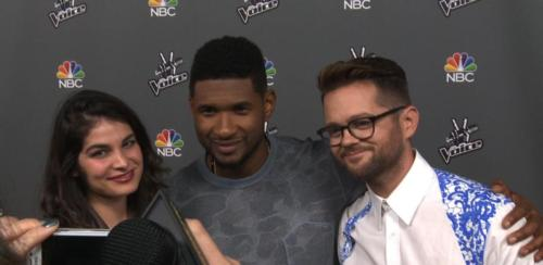 Interviewing Usher at The Voice