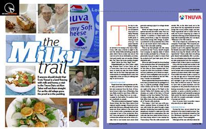 Tnuva was featured in Mishpacha Magazine