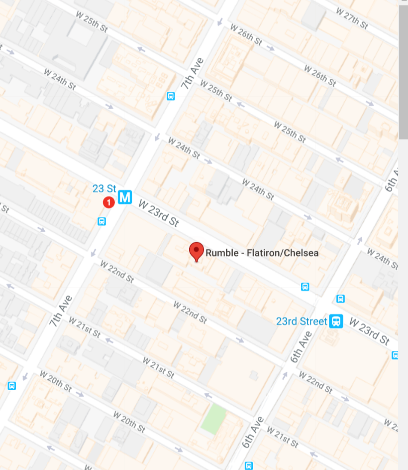 rumble boxing chelsea new york location map directions